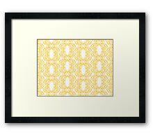 Golden Emblem Pattern Framed Print