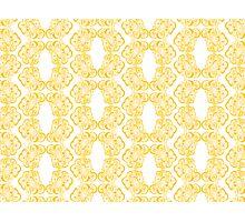 Golden Emblem Pattern Photographic Print