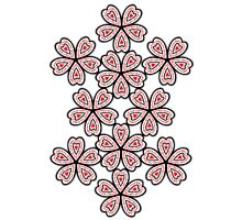 Flowered Heart Pattern Photographic Print