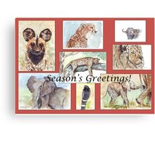 Season's Greetings from Africa Canvas Print