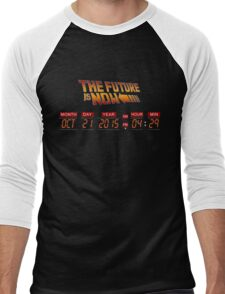 Back to The Future is Now Panel Time Men's Baseball ¾ T-Shirt