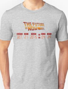Back to The Future is Now Panel Time Unisex T-Shirt