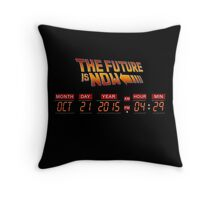 Back to The Future is Now Panel Time Throw Pillow