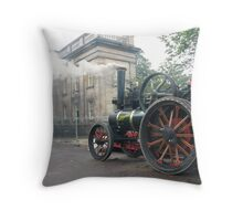 STEAM TRACTION ENGINE Throw Pillow