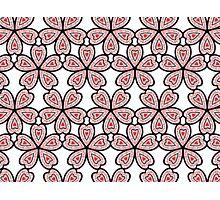 Heart Flower Pattern Photographic Print