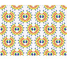 Phoenix Wings Pattern Photographic Print