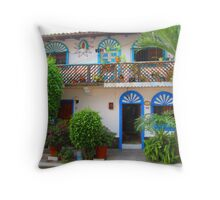 A creation of blue and green - made by nature and people Throw Pillow