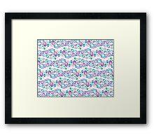 Primeval Swirls Pattern Framed Print