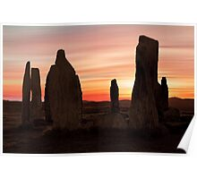 Ancient Scottish Standing Stones Poster