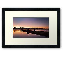 Morning Lake Framed Print