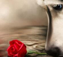 Dog with Rose  Sticker