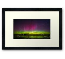 Aurora Australis goes wild! Framed Print