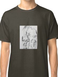 self portrait without looking at paper Classic T-Shirt