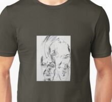 self portrait without looking at paper Unisex T-Shirt