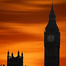 Big Ben Dusk by David Alexander Elder