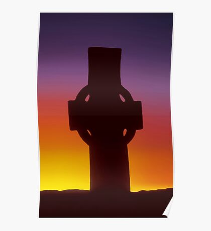 Celtic Cross, Iona Poster
