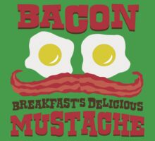 Bacon - Breakfast's Delicious Mustache One Piece - Short Sleeve