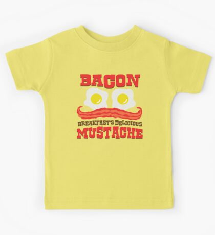 Bacon - Breakfast's Delicious Mustache Kids Tee