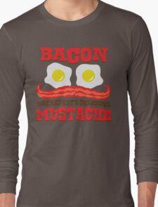 Bacon - Breakfast's Delicious Mustache Long Sleeve T-Shirt