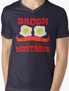 Bacon - Breakfast's Delicious Mustache Mens V-Neck T-Shirt