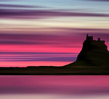 Dusk over Holy Island by David Alexander Elder