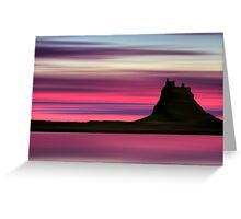 Dusk over Holy Island Greeting Card