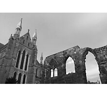 New and ruin B&W Photographic Print