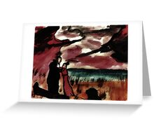 Saying fairwell, watercolor Greeting Card