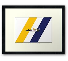 1993 Williams FW15C Formula 1 Race CAr Framed Print