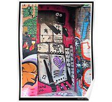 Robot Graffiti Poster