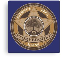 Once Upon a Time - Storybrooke Sheriff's Dept. Canvas Print