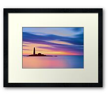 Lighthouse Dusk Framed Print