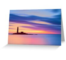 Lighthouse Dusk Greeting Card