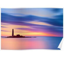 Lighthouse Dusk Poster