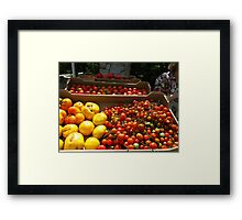 Salad fix'ings Framed Print
