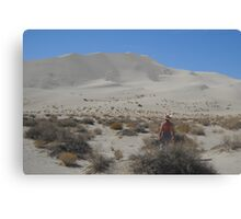 Looking At The Dune Canvas Print
