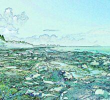Seascape in Blue by Margaret Stevens