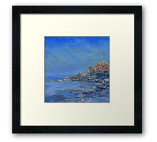 summer morning mist  Framed Print