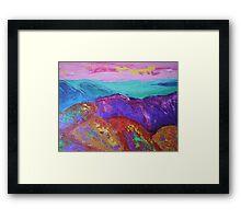 Landscape-Scotland mountains Framed Print