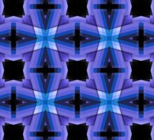 Blue Checkers Pattern Sticker