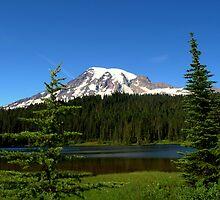 """Mount Rainier and Reflection Lake"" by Lynn Bawden"