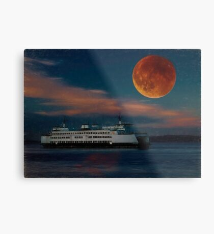 And the Ferry Jumped Under the Moon Metal Print