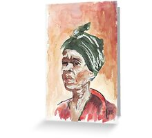 The Essence of Africa - Ethnic series Greeting Card
