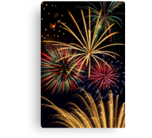 Spectacular Pyrotechnic Display Canvas Print