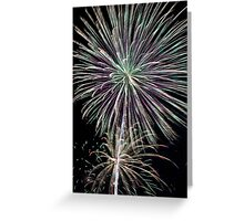 Dazzling Pyrotechnic Display Greeting Card