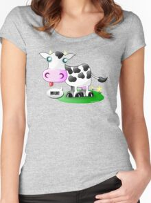 "Put the ""ow"" in ""Cow"" Women's Fitted Scoop T-Shirt"