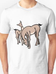 Doe the Deer with Fawn T-Shirt