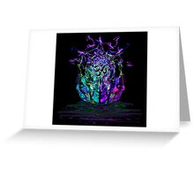 Cyan Conciousness Greeting Card