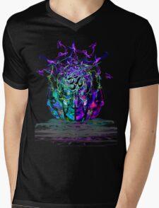 Cyan Conciousness Mens V-Neck T-Shirt
