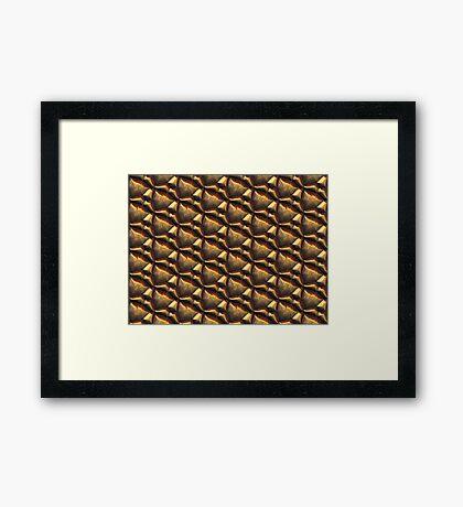 Metallica Series/Molten Golden Framed Print